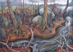 The Virgin Spring by Gabrielle Barzaghi Pastel 50 X 70 inches